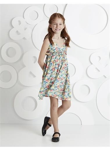 Ollie & olla Fırfırlı Çiçekli Elbise Renkli